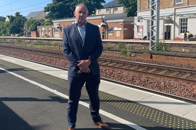 Paul McLennan at Dunbar station