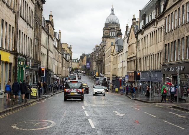 South Bridge in Edinburgh's Old Town would be part of the low emission zone. Picture: Lisa Ferguson      south bridge, edinburgh