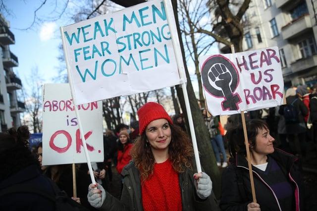 Hari Perempuan Internasional telah diperingati sejak awal 1900-an melalui protes dan pemogokan (Getty Images)