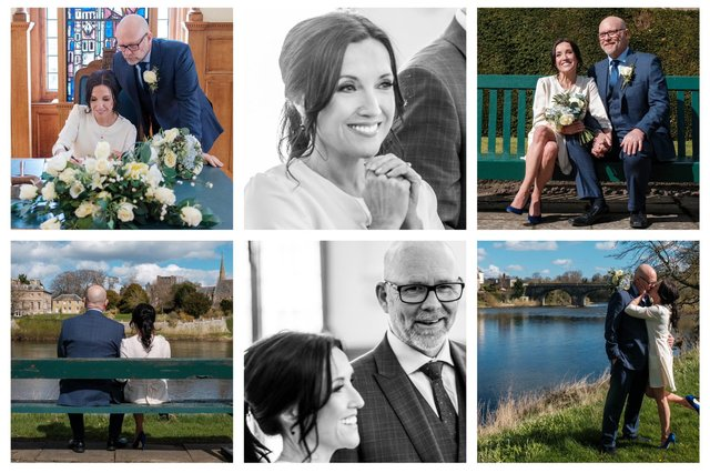 Fiona Ufton posted a montage of images from the couple's big day
