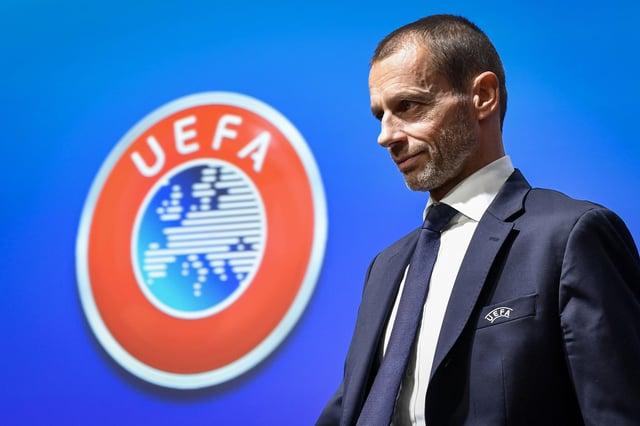 UEFA president Aleksander Ceferin. (Photo by FABRICE COFFRINI/AFP via Getty Images)