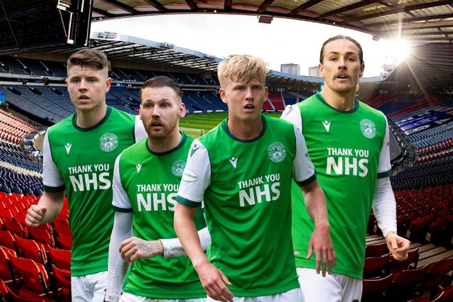 Hibs take on Dundee United at Hampden this afternoon