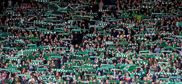 Hibs fans packed out Hampden for the 2016 final - but there will only be 300 at the national stadium for the showdown with St Johnstone on May 22