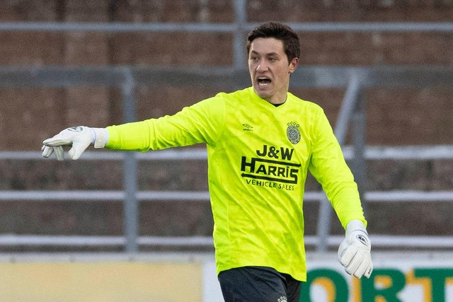 Brian Schwake in action for Linlithgow Rose in a Scottish Cup tie against Forfar Athletic