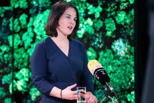 Annalena Baerbock will run as the Green Party candidate to succeed Angela Merkel as German Chancellor in September's general election (Picture: Andreas Gora/pool/Getty Images)