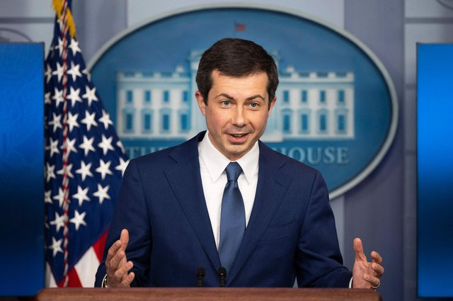"""US Secretary of Transportation Pete Buttigieg is talking about """"equity"""" when it comes to public transport and safety on roads"""