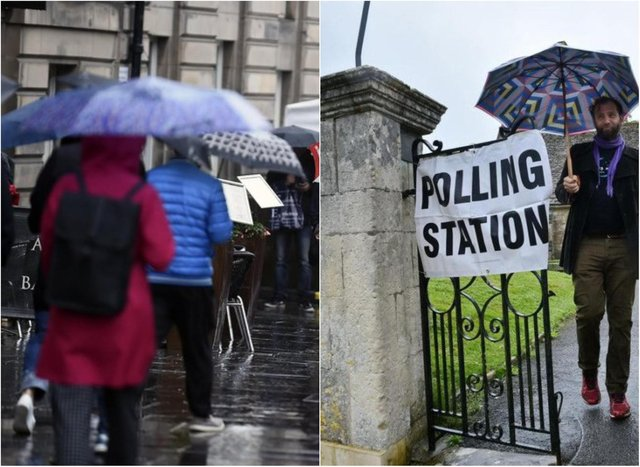 It will be a cold and wet day across Edinburgh and the Lothians on election day.