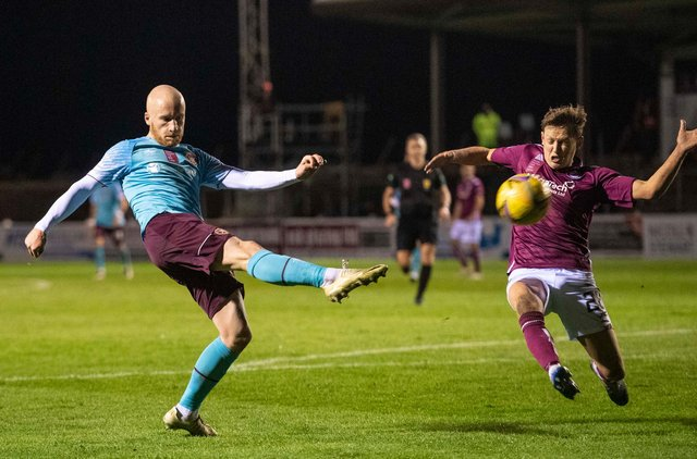 The last time Hearts travelled to Arbroath they battled to all three point with a 1-0 win. Picture: SNS