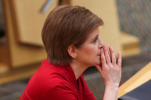 First Minister Nicola Sturgeon ahead of a statement to the Scottish Parliament in Holyrood, Edinburgh picture: PA/Russell Cheyne