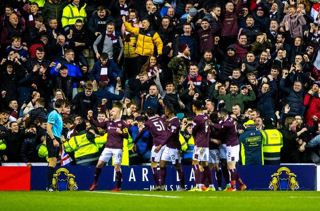 A year ago, Hearts beat Hibs 3-1 at a packed and vibrant Easter Road. Picture: SNS