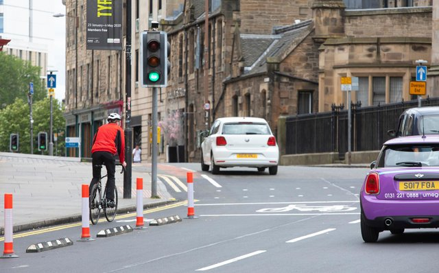 Edinburgh's controversial Spaces for People project is set to last another 18 months. PIC: Lloyd Smith.