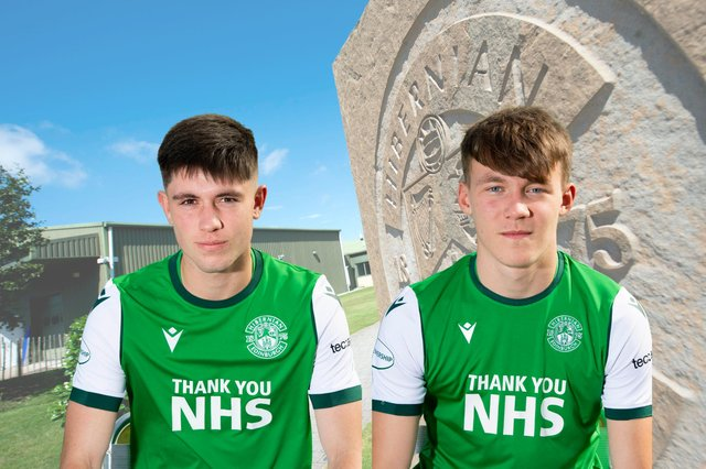 Connor Young (left) and Josh O'Connor were on target for Hibs Under-18s
