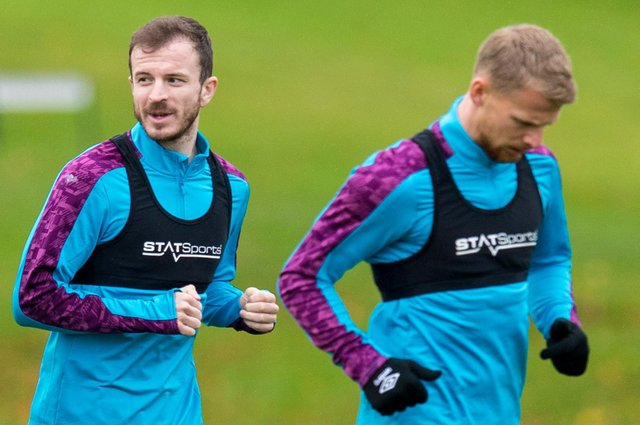 Hearts duo Andy Halliday and Stephen Kingsley missed last weekend's draw at Dunfermline.