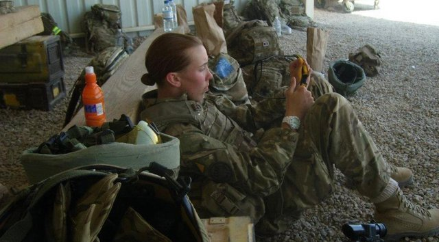 Kara McCallum joined the armed forces aged 18.