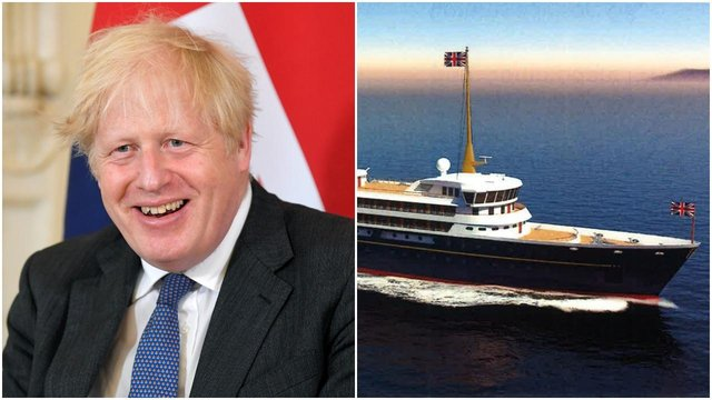 Boris Johnson has said the new national flagship will sail around the globe hosting trade talks and fairs to boost Britain's economy (Getty Images/Downing Street)