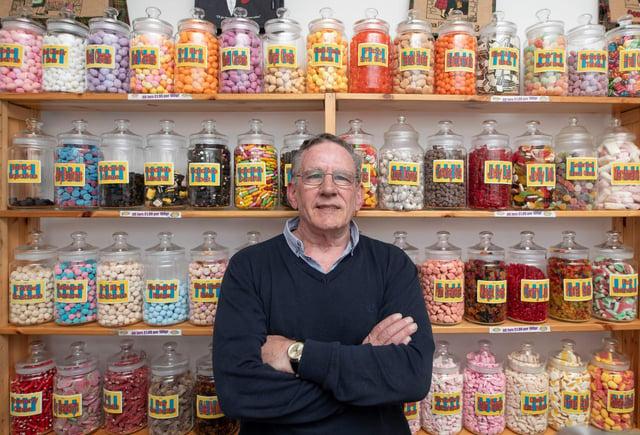 John Bain owner of Bains Retro Sweets (Alan Simpson Photography)
