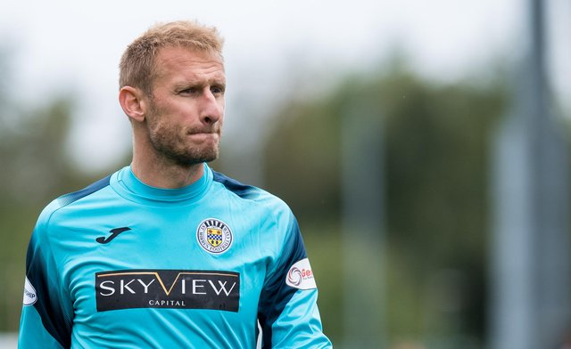 Zdenek Zlamal during his emergency loan spell with St Mirren earlier in the season. Picture: SNS