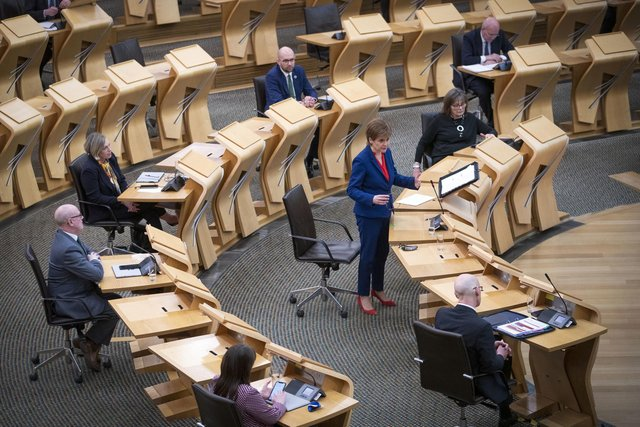 Nicola Sturgeon during a Covid briefing in Holyrood.