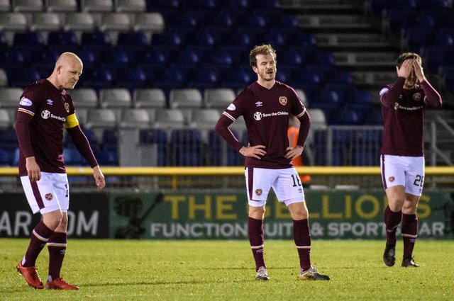There were no academy graduates in the ten outfield positions from the Hearts starting XI last Friday. Picture: SNS