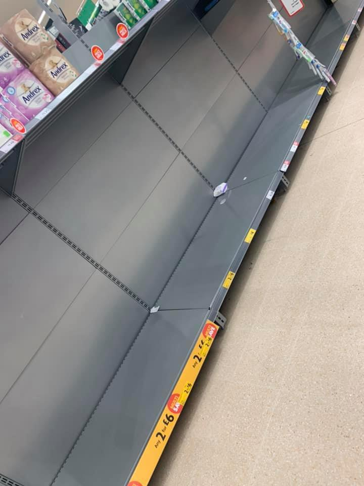 Morrisons introduce toilet roll and disinfectant limit as pictures appear to show bare shelves in Edinburgh stores