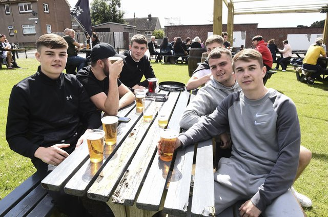 The weather may not be as kind to customers who want to indulge in some outdoor drinking in Edinburgh on bank holiday Monday