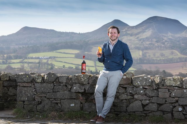 Dominic Tait at the Eildons, near Melrose in the Scottish Borders where he plans to open the 'centre for vermouth excellence'