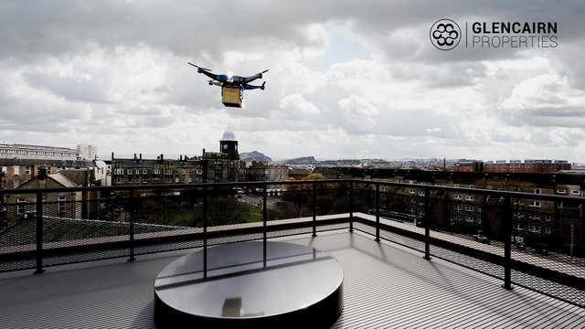 The flats will come with a designated area for a future drone landing pad on the roof terrace, accommodating the development of contactless delivery