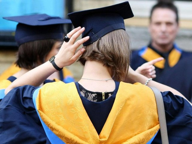 A student attending a graduation ceremony picture: JPI Media