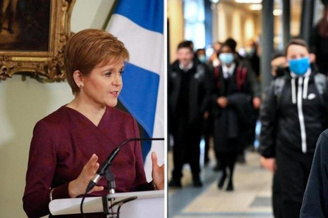 Nicola Sturgeon will provide an update on lockdown and schools on Tuesday.