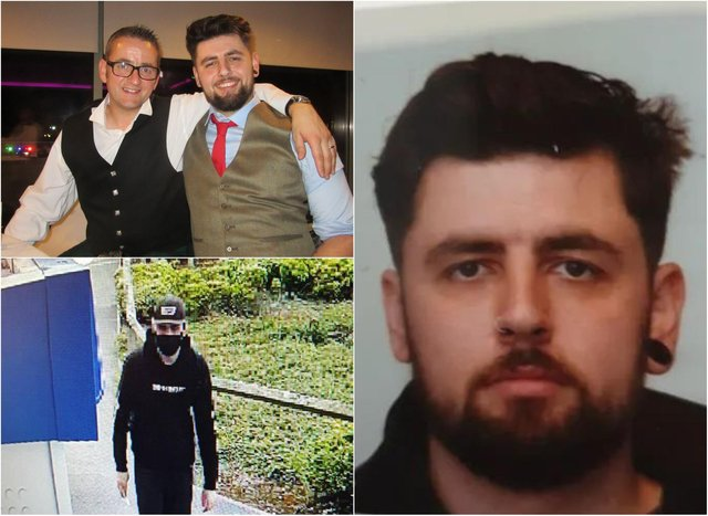 David James Montgomery was reported missing earlier this week and was captured on CCTV in North Berwick. David junior and David senior pictured together (top left).