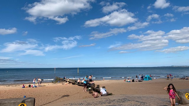 Portobello Beach on Wednesday, July 14 (Photo: Andrew O'Brien).