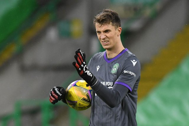Matt Macey will be in goals for Hibs remaining Scottish Cup ties. (Photo by Ross MacDonald / SNS Group)