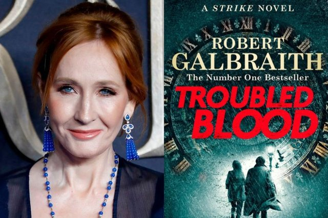 The book is the fifth in the Strike series, released under the pseudonym Robert Galbraith (Photo: TOLGA AKMEN/AFP via Getty Image/Little Brown Books Group)