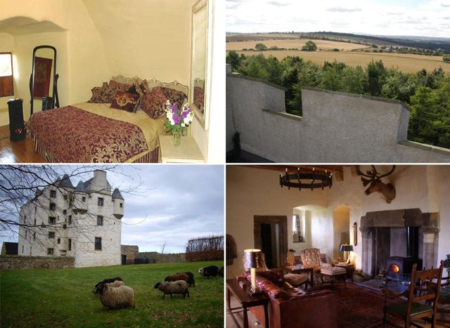 The castle at Faside Estate offers a fairytale escape just a few miles from Edinburgh.