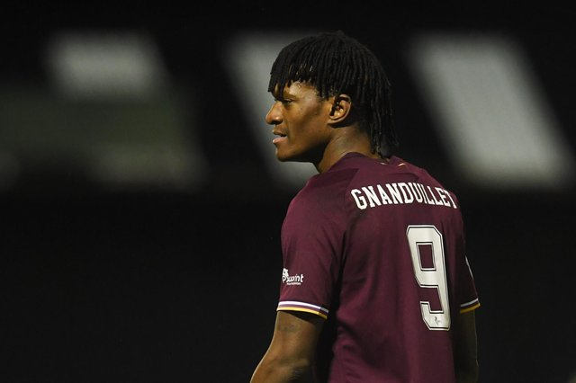 Armand Gnanduillet is hoping for a run of games in the Hearts team.