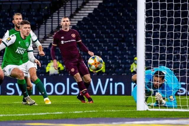 Hibs striker Kevin Nisbet and Hearts goalkeeper Craig Gordon are in the Scotland Euros squad.