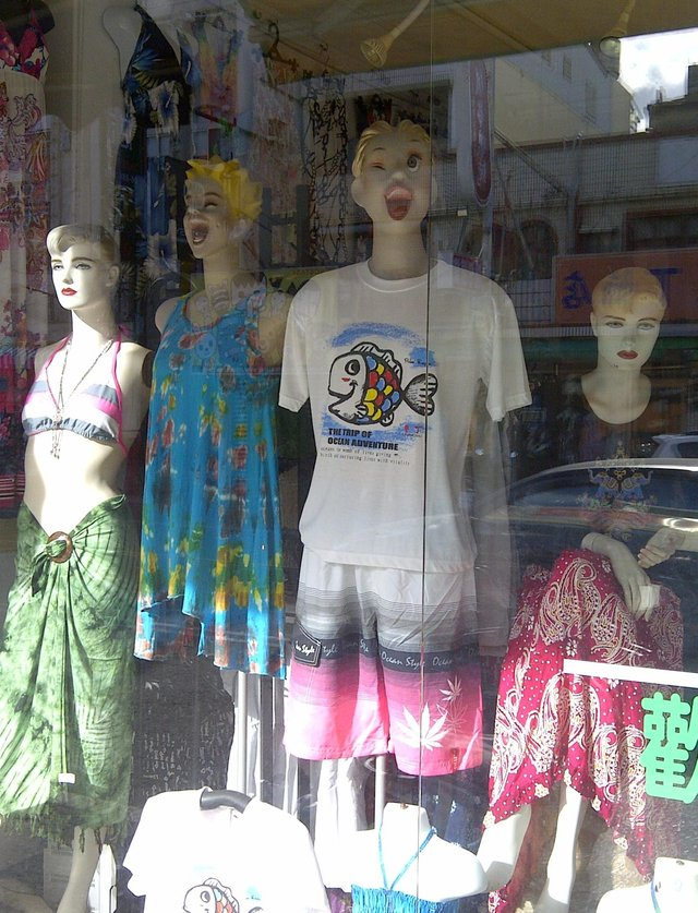 Mannequins full of the joys in Taiwan.
