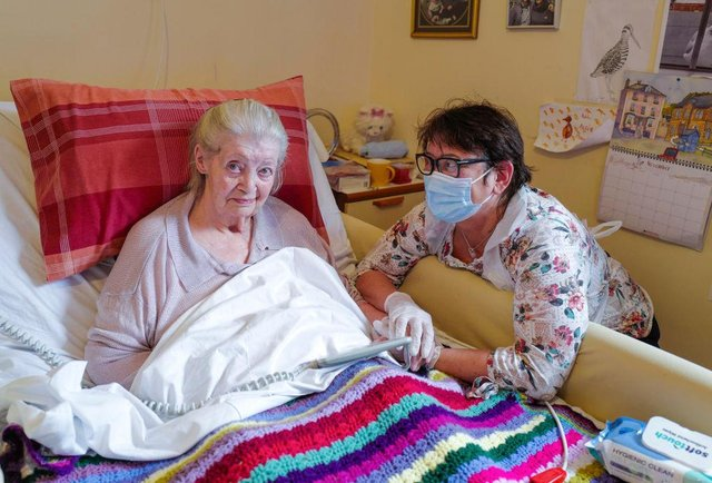 Care homes in Scotland are set to allow visitors in today for the first time in 2021. (Photo by Hugh Hastings/Getty Images)
