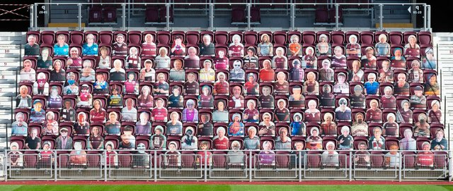 Hearts fans have only been present at Tynecastle in cardboard form this season - and it will be great once they return.