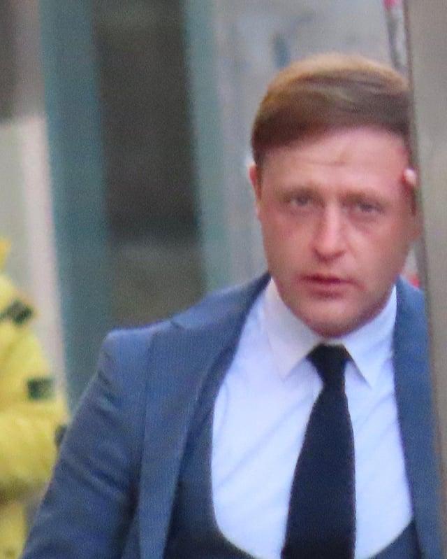 Gavin Malcolm pictured outside Edinburgh Sheriff Court.