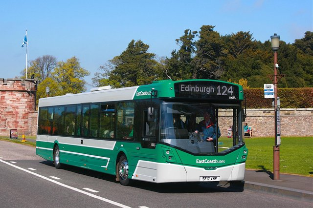 East Coast Buses operates services from East Lothian into Edinburgh