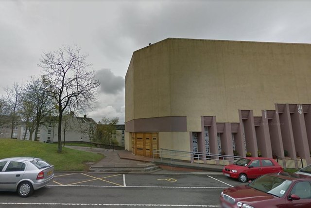 Christopher Duffy, 81, was found lying beside a broken ceiling tile on the floor of the Sacred Heart Church in Cumbernauld in June 2016. pic: Google