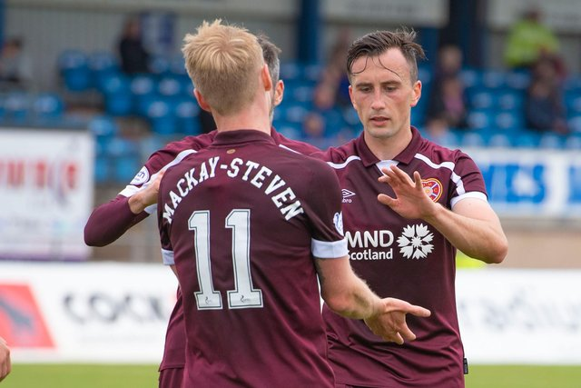 Hearts face Cove Rangers in the Premier Sports Cup after defeating Peterhead. (Photo by Paul Devlin / SNS Group)