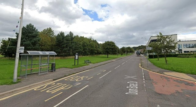 """The incident happened on Drum Brae Drive on Friday March, 5 after a group of youths attempted """"to tamper with the bus"""" (Photo: Google Maps)."""