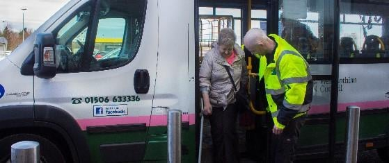 The dial-a-bus service provides a lifeline link to users