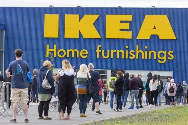 Queues outside the Ikea store at Loanhead earlier in the year.