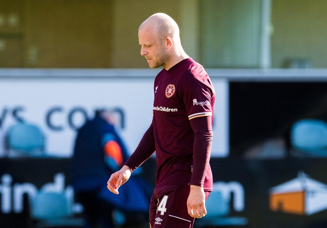 Hearts fans were as dejected as the players after the draw with Dunfermline. Picture: SNS