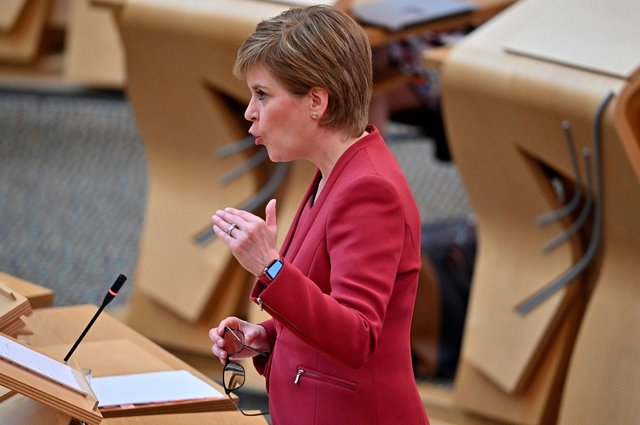 First Minister Nicola Sturgeon during the statement at the Scottish Parliament in Edinburgh, on the next stage of lockdown easing (Photo: Jeff J Mitchell/PA Wire).