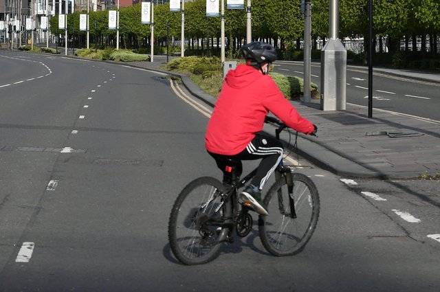 Many people have taken up cycling for their daily exercise with roads quieter than normal (Picture: John Devlin)