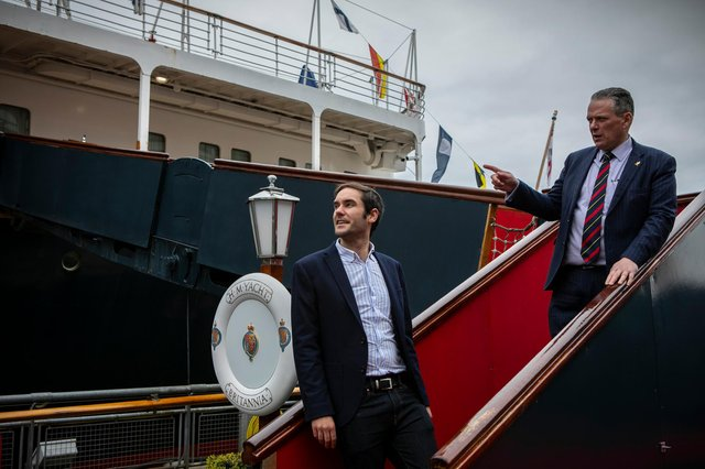 Council leader Adam McVey met with the Royal Yacht Britannia's chief executive Bob Downie on Monday morning